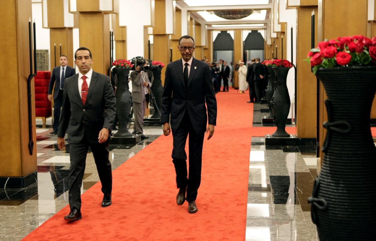 圖中:盧旺達總統。 圖片來源:路透社