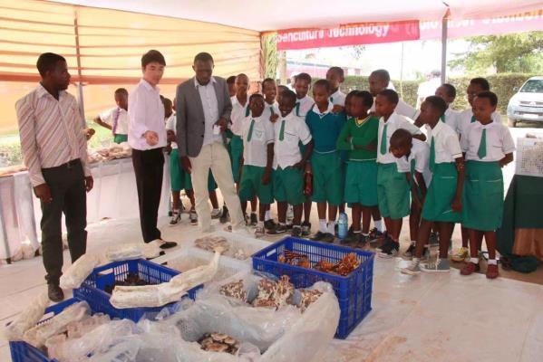 中國到盧旺達教授菌草技術。 圖片來源:國際生態安全合作組織