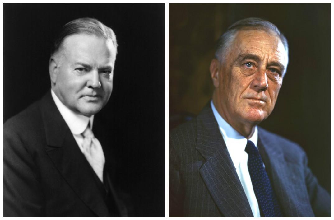 Herbert Hoover & Franklin D. Roosevelt