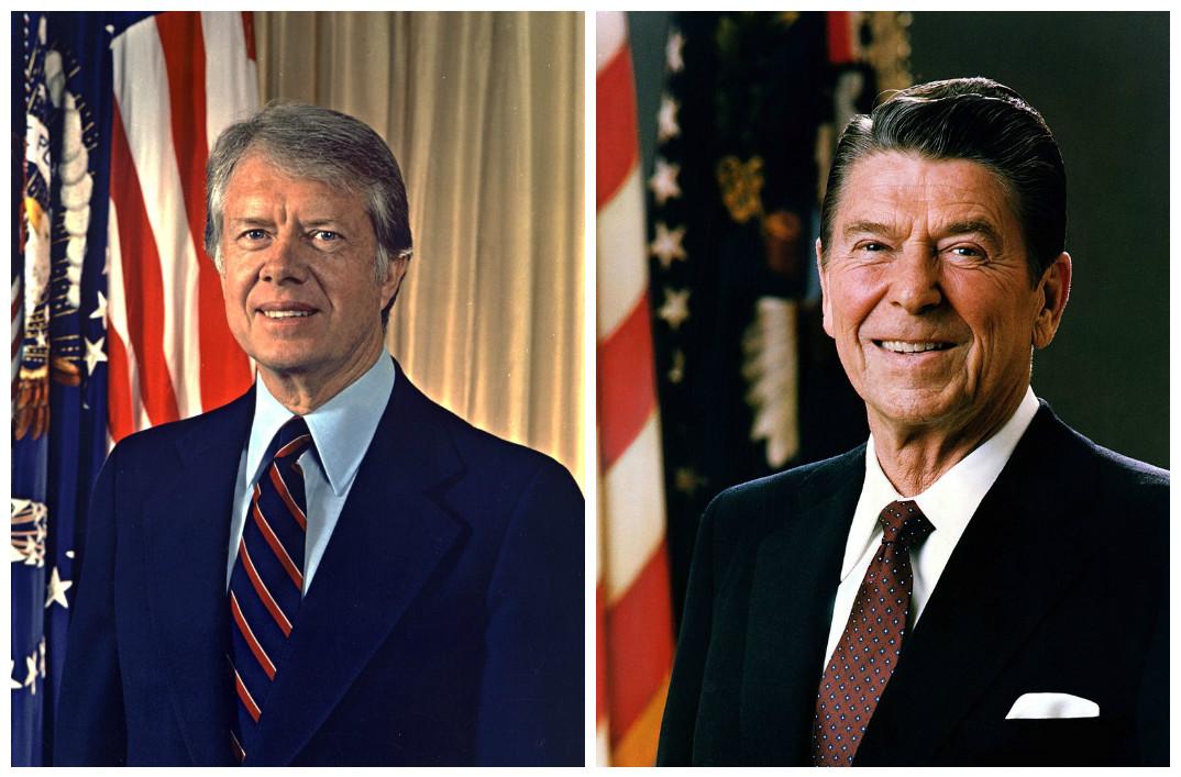 Jimmy Carter & Ronald Reagan