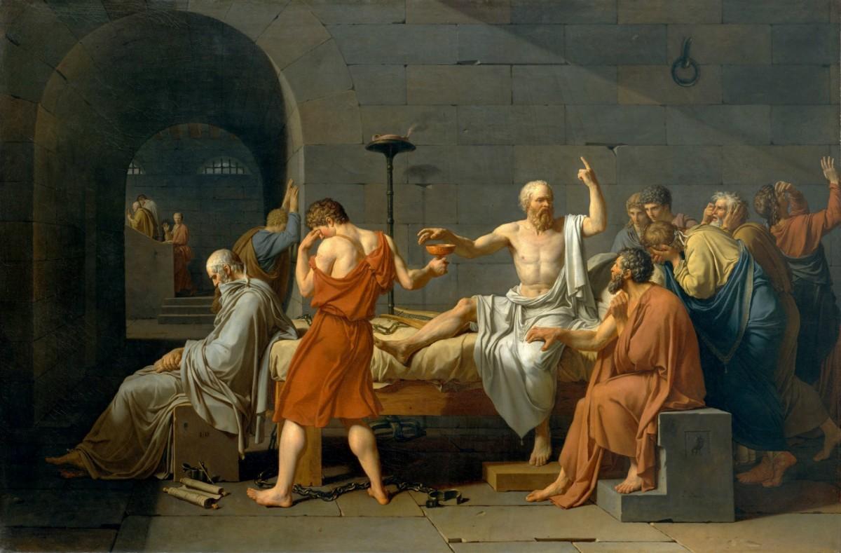 蘇格拉底被 500 名裁判團判以死刑。