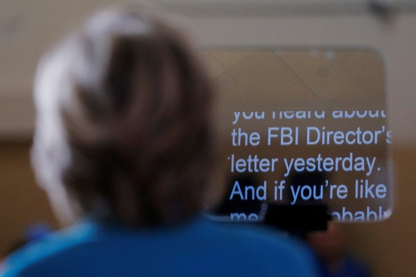 Democratic presidential nominee Hillary Clinton speaks about the FBI inquiry into her emails during a campaign rally in Daytona Beach, Florida, October 29, 2016. REUTERS/Brian Snyder