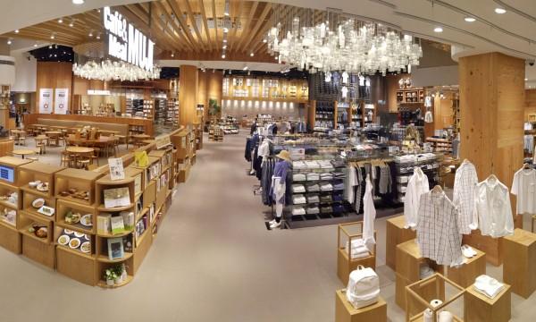 香港無印良品奧海城分店的室內設計美觀。 圖片來源:muji.com