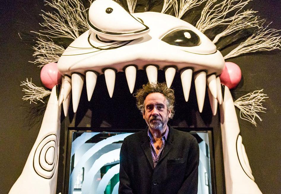 添布頓來港出席作品展覽。 圖片來源:The World of Tim Burton Hong Kong
