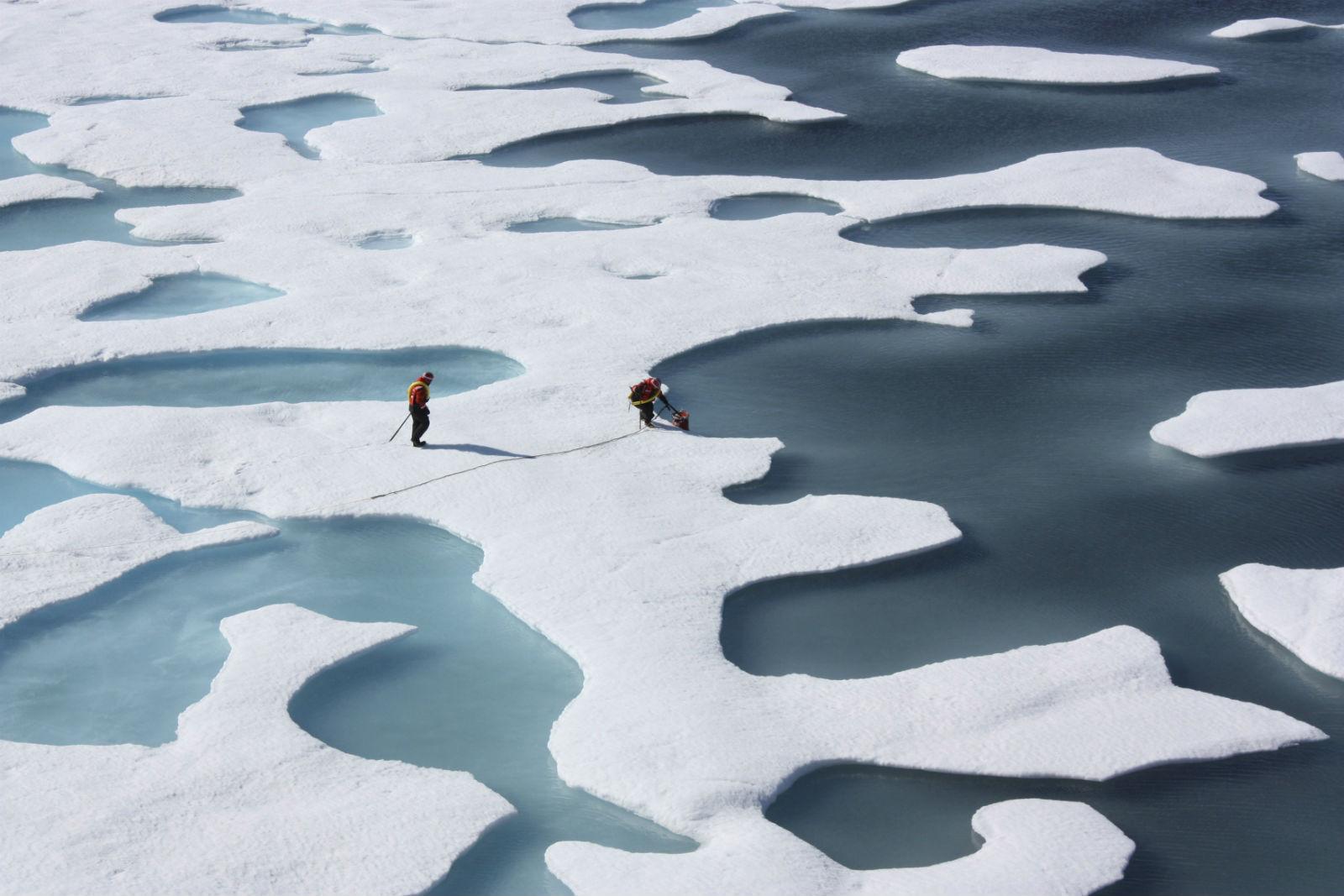 融冰除了是暖化的果,愈來愈多證據顯示,融冰是造成極端天氣的因。 圖片來源:路透社