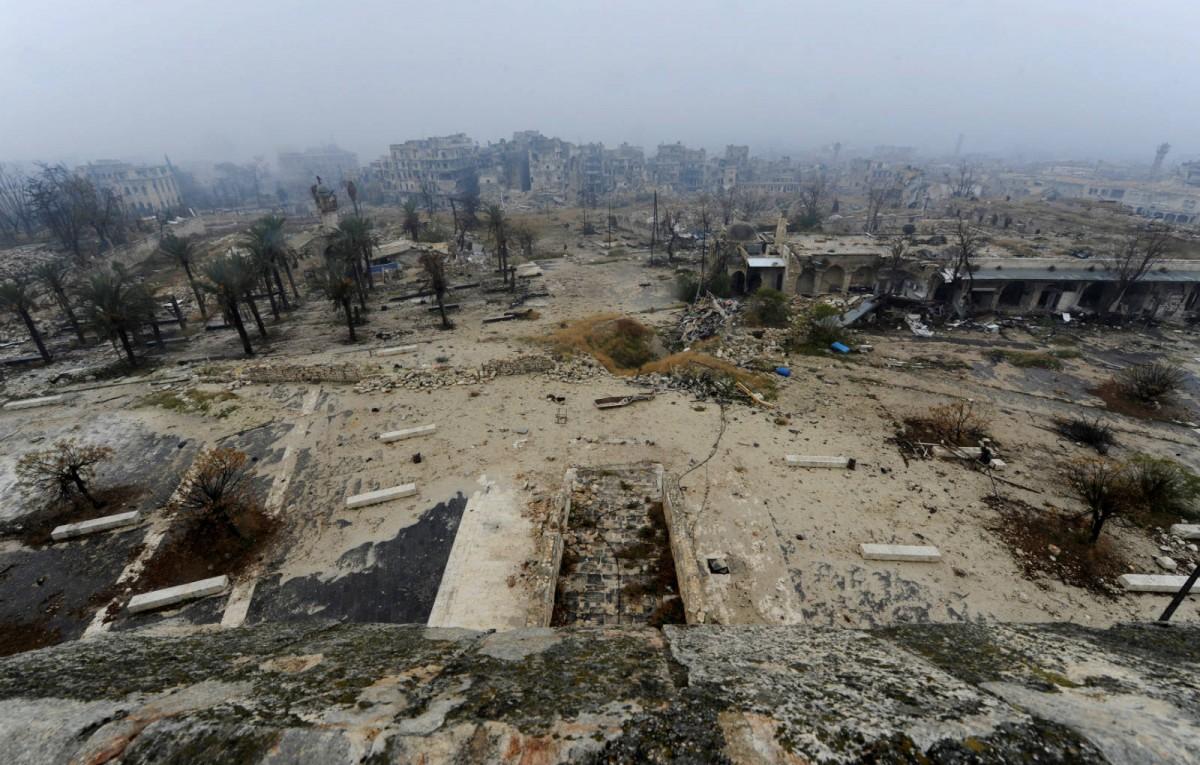 今日滿目瘡痍的阿勒頗。 圖片來源:路透社