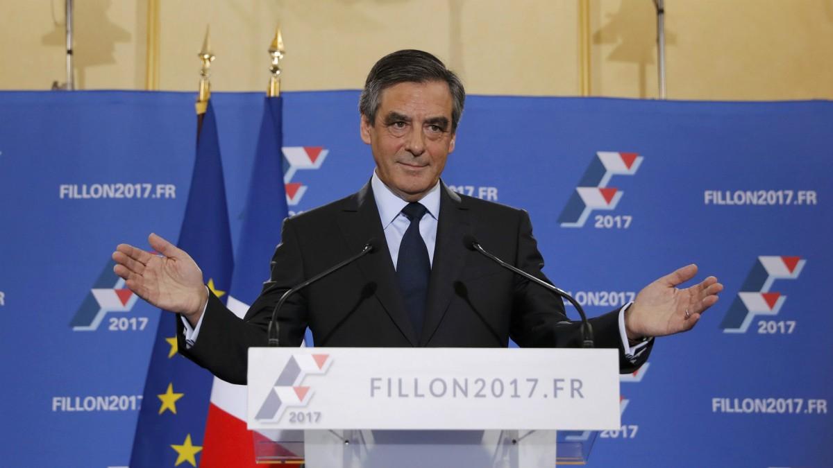 菲永勝出右派共和黨初選,來年將與極右國民陣線及左翼執政黨社會黨競逐法國總統一職。 圖片來源:路透社
