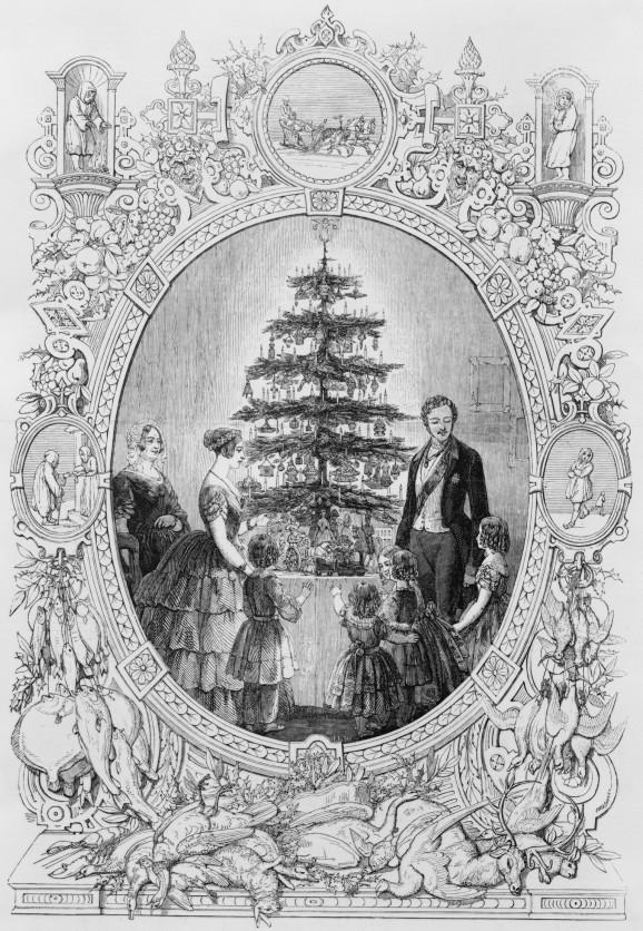 隨著倫敦畫報一張維多利亞女王與艾伯特王子的畫像流傳,聖誕樹開始風靡美國。