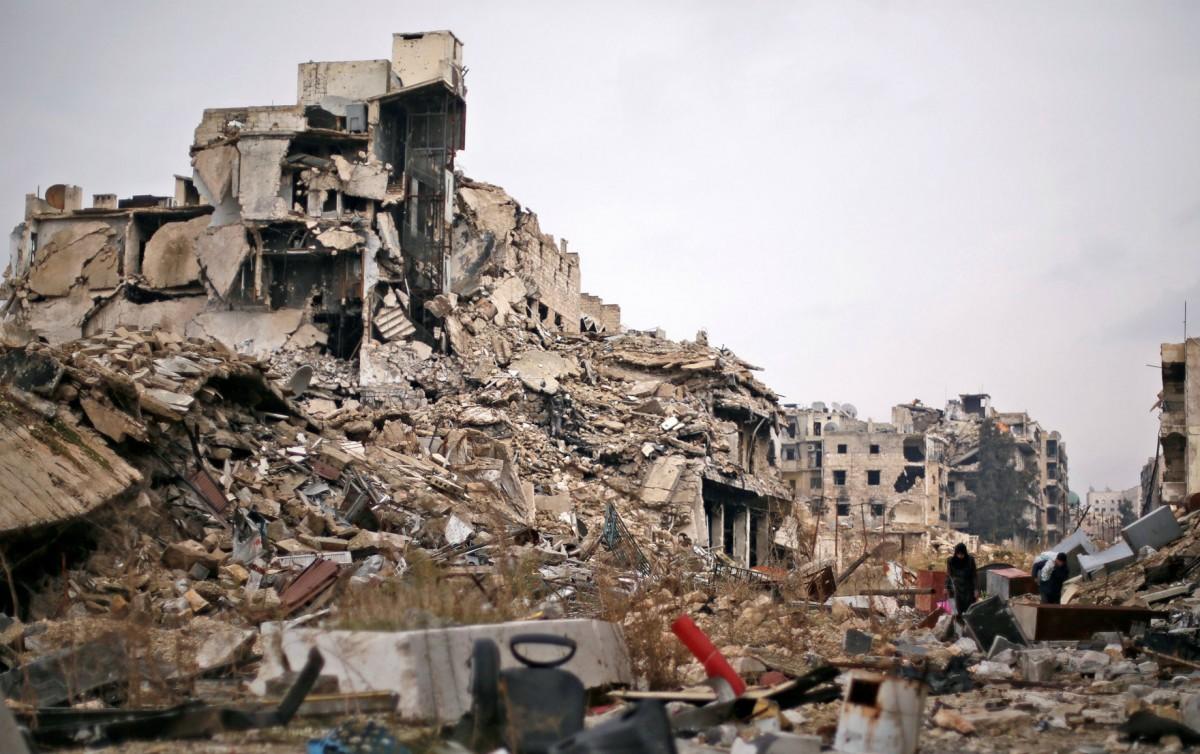 幾年戰事,阿勒頗人口由 200 萬銳減至 10 萬,面目全非。 圖片來源:路透社