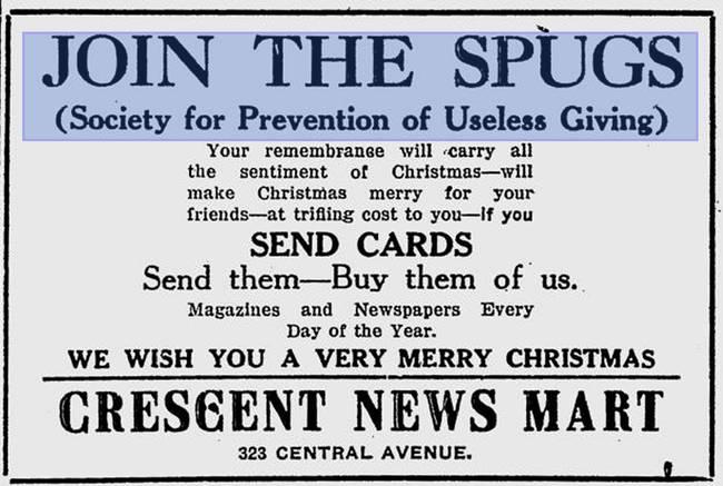 「不買禮物,那就為他訂閱報紙雜誌吧。」圖片來源:Public Domain