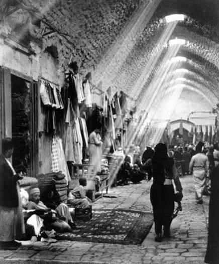 上世紀在阿勒頗古城的市集