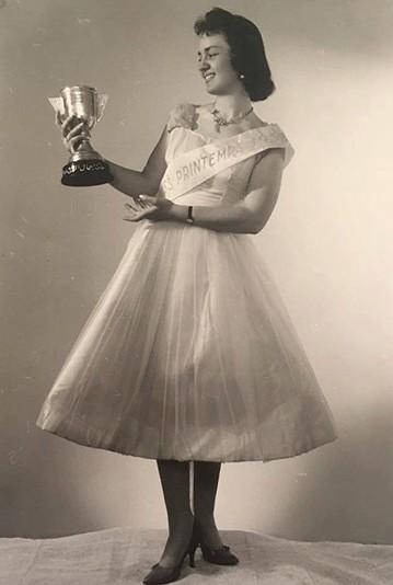 1958 年阿勒頗的選美小姐,反映了當時民眾的審美觀。