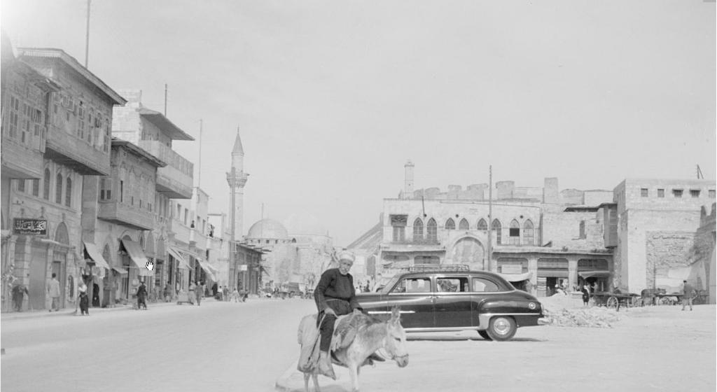 上世紀阿勒頗清真寺外的大街