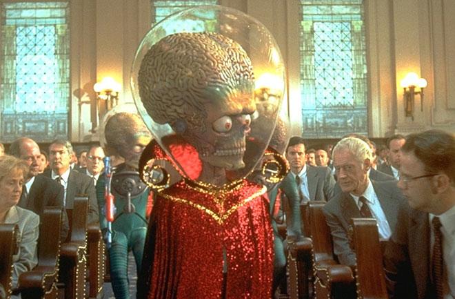 電影「 Mars Attacks」中的凸眼外星人