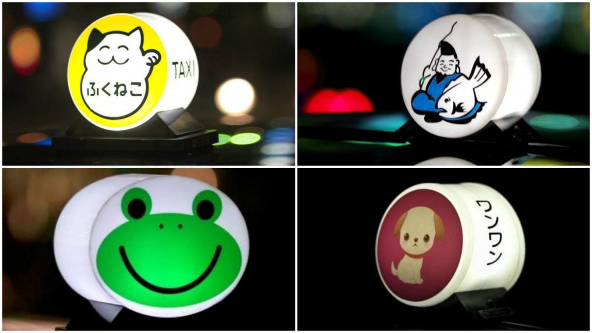 早年的的士行燈不乏卡通圖樣。 圖片來源:Pinterest