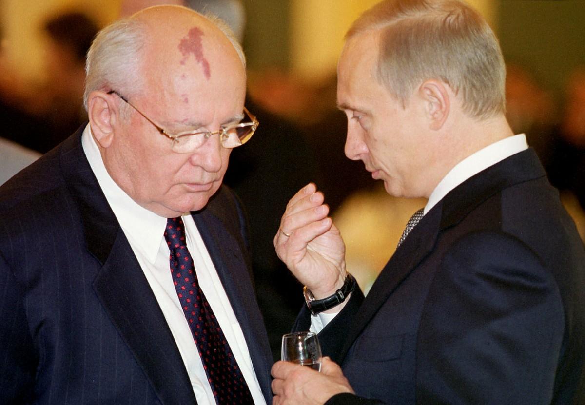 戈爾巴喬夫曾一度支持普京,後來對其不無批評。 圖片來源:路透社