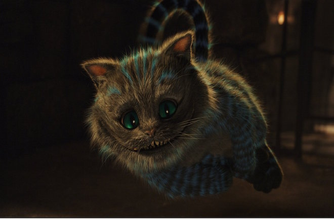電影「Alice in Wonderland」中的妙妙貓