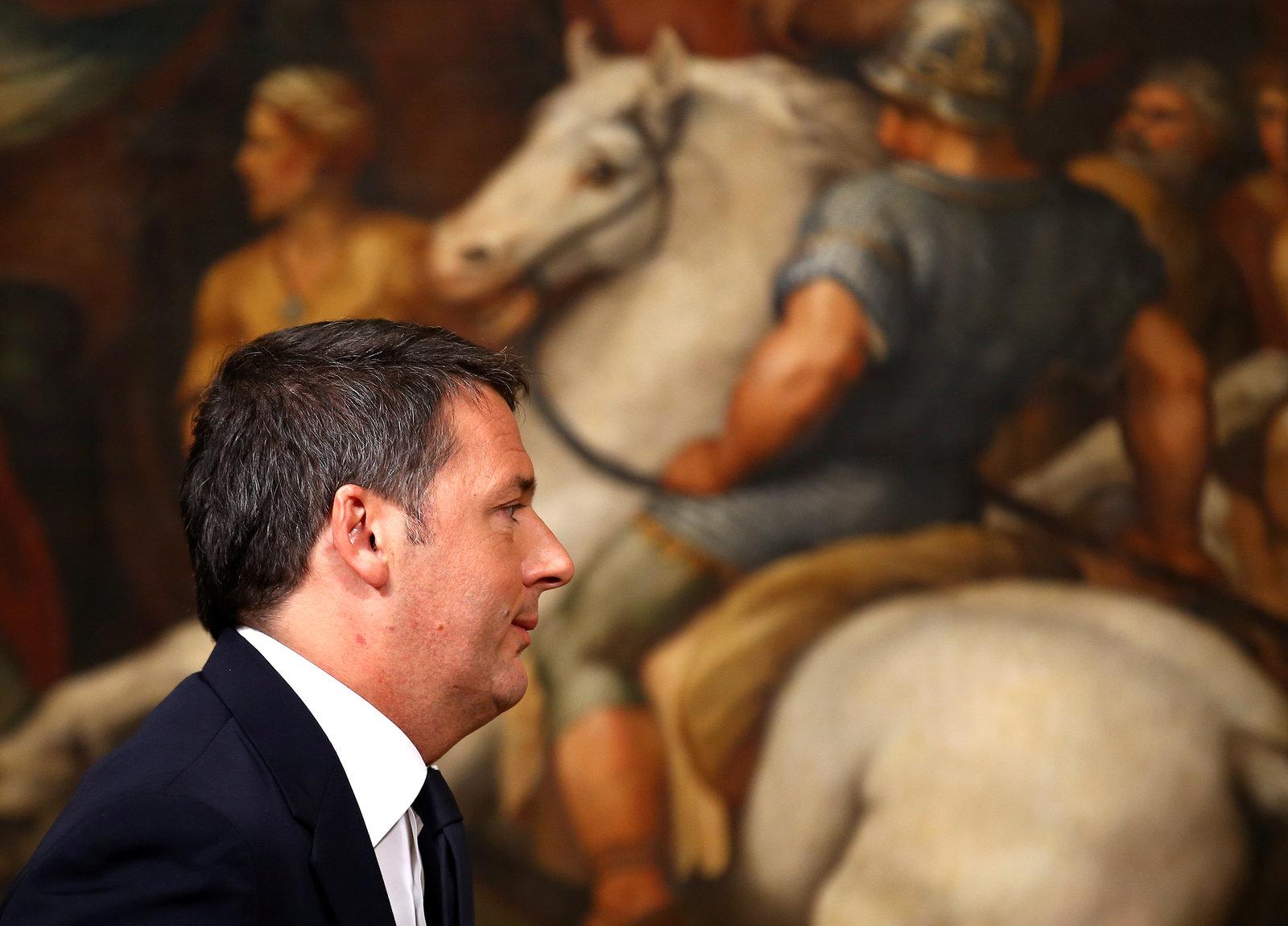 倫齊黯然下台,但對於政權頻繁轉變,意大利人並不驚訝。圖片來源:路透社