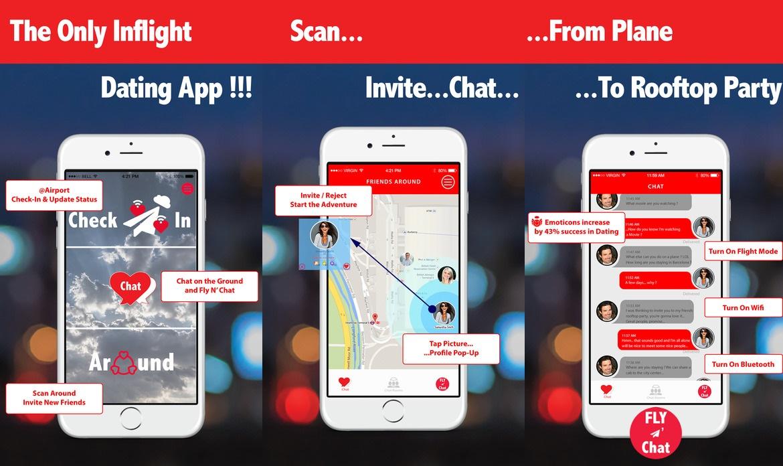 AirDates 讓用戶可先在機場,尋找感興趣的同路人,邀約聊天詳談,而即使登機以後,仍能繼續通話,在機程中增進感感情。