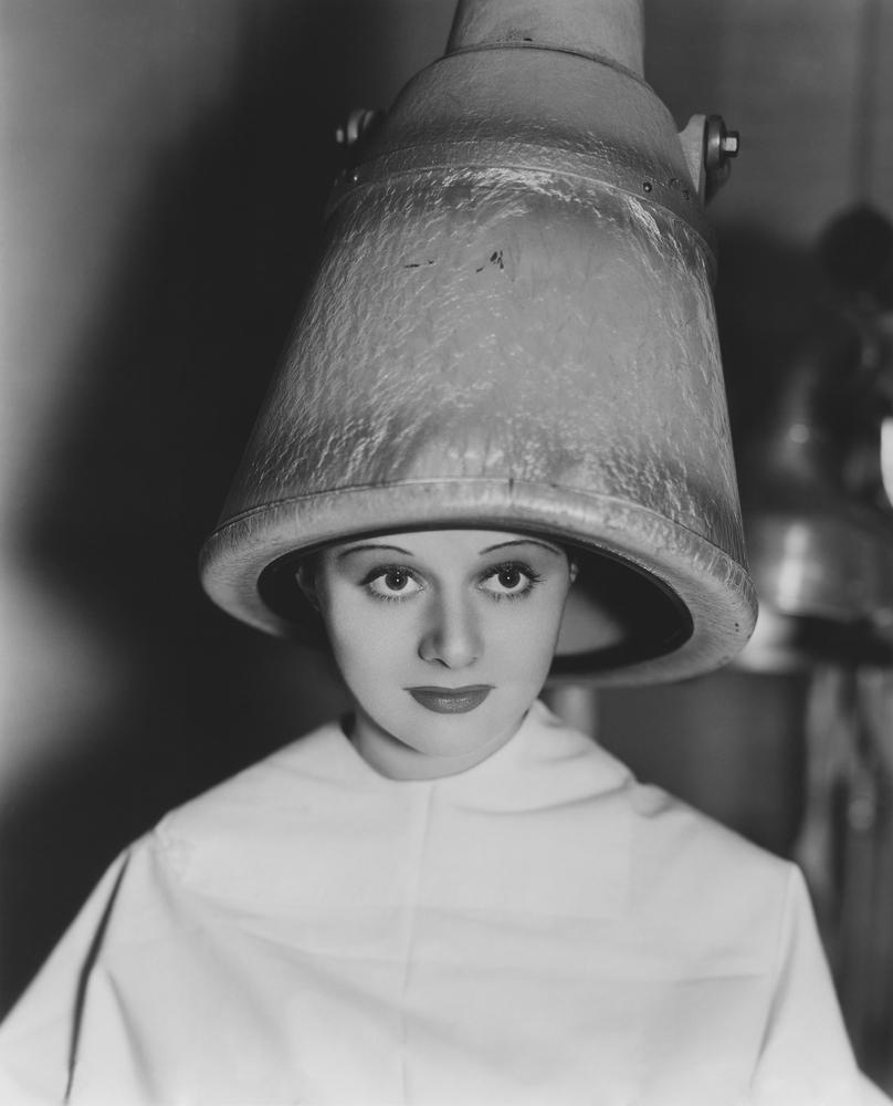 從前供女性使用的風筒。
