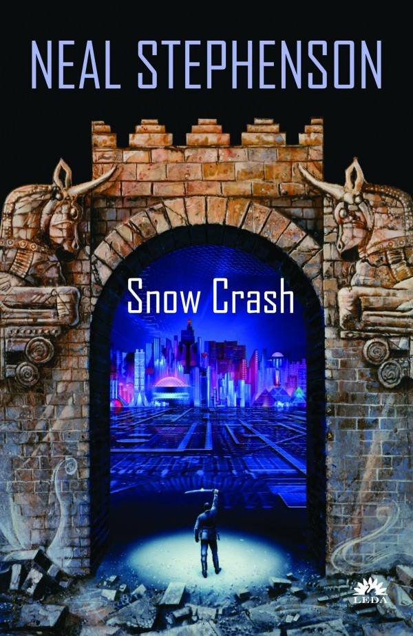 Neal Stephenson 所著的 Snow Crash(1992)一書封面。圖片來源:rereadsandreviews.com
