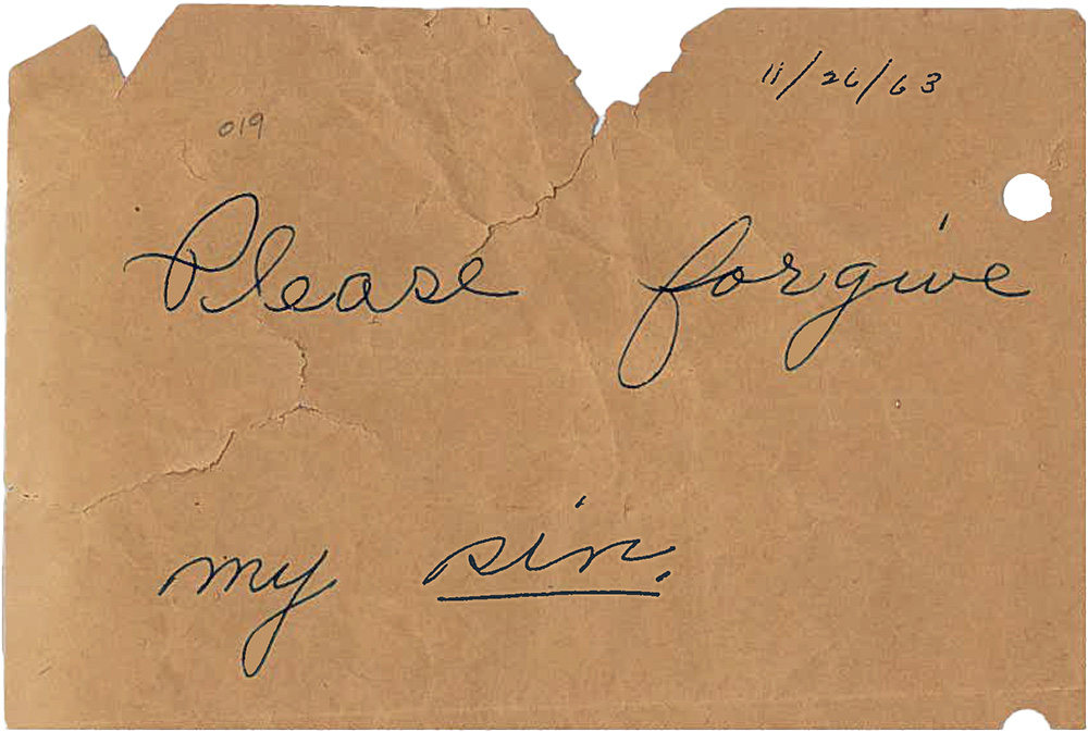 「請原諒我的罪過。」 圖片來源:badluckhotrocks