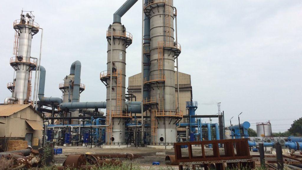 位於印度杜蒂戈林的蘇打粉工廠 圖片來源:BBC
