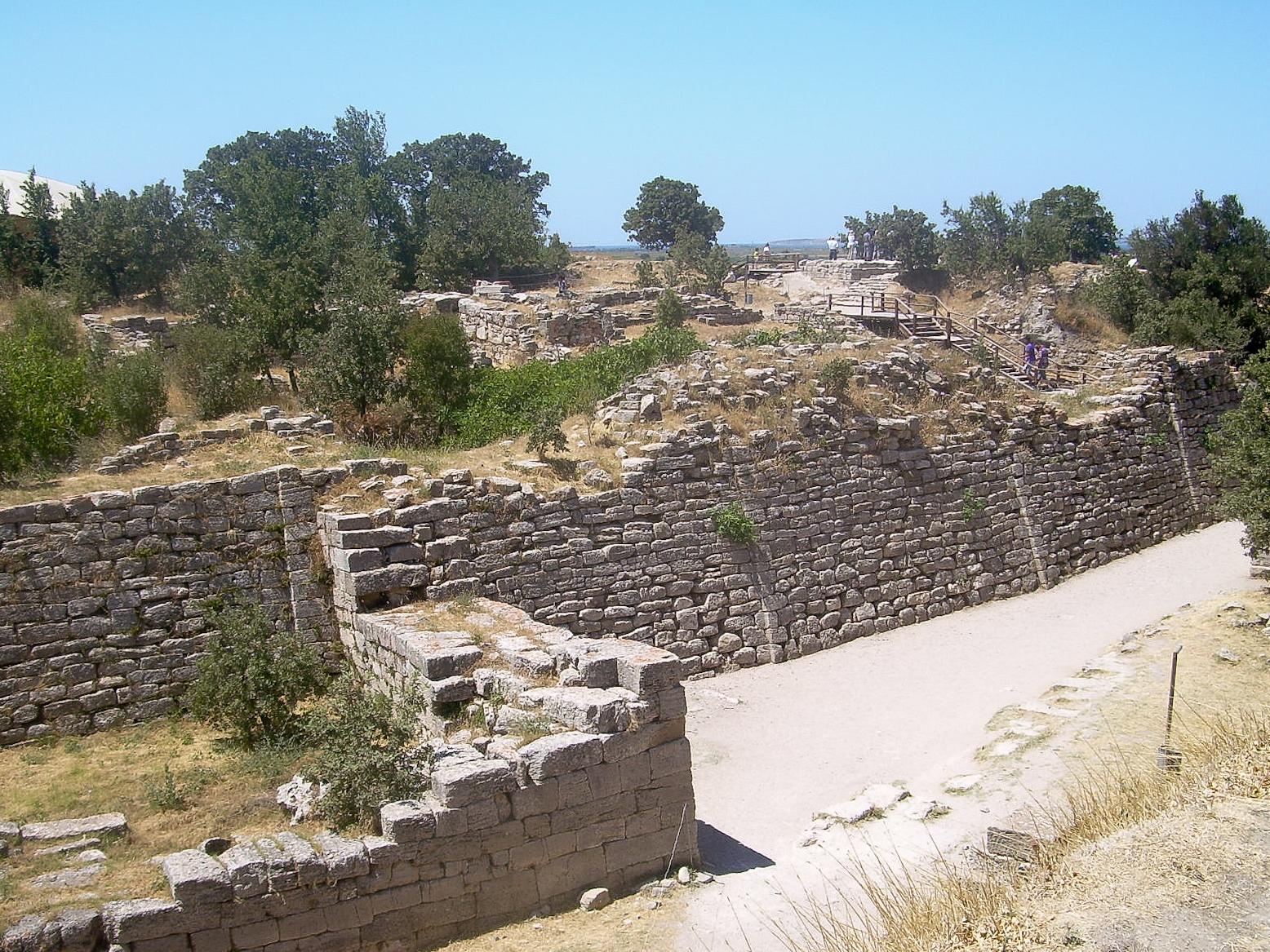特洛伊古跡。 圖片來源:Wikicommons