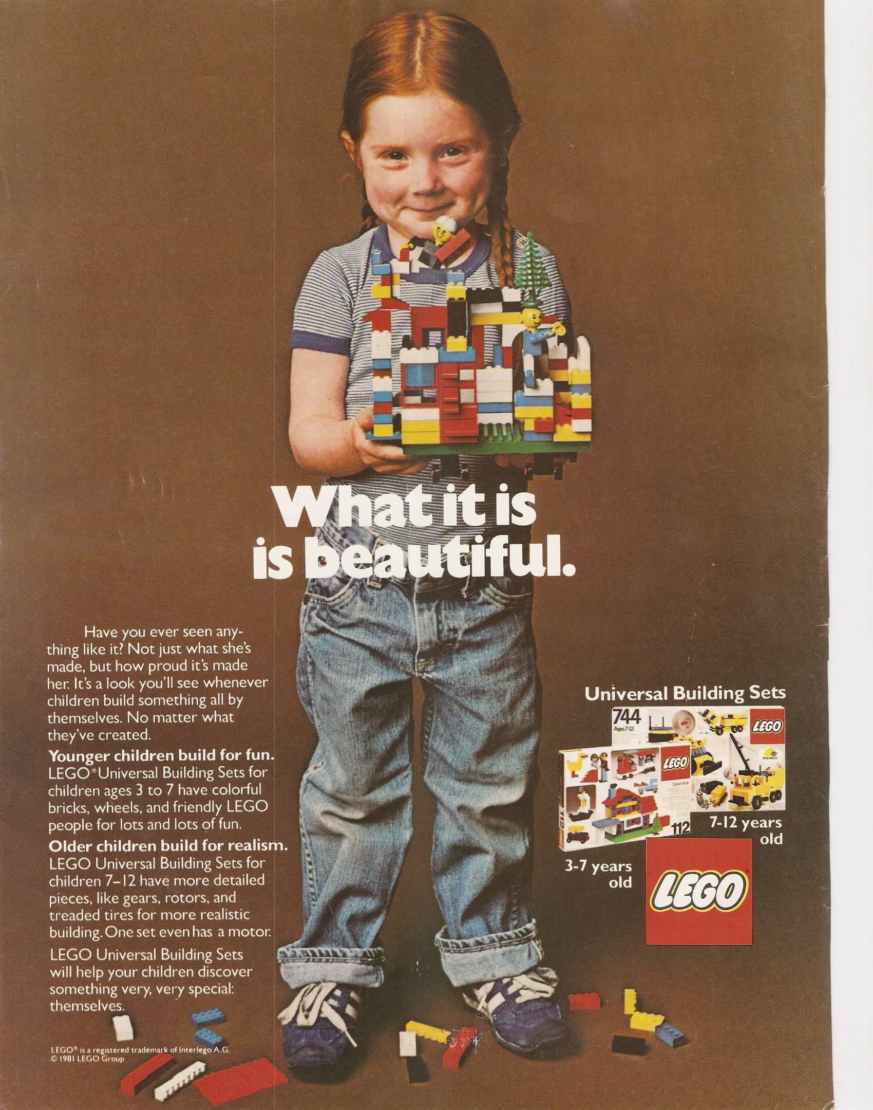 1981 年的著名 LEGO 廣告。圖片來源:imgur