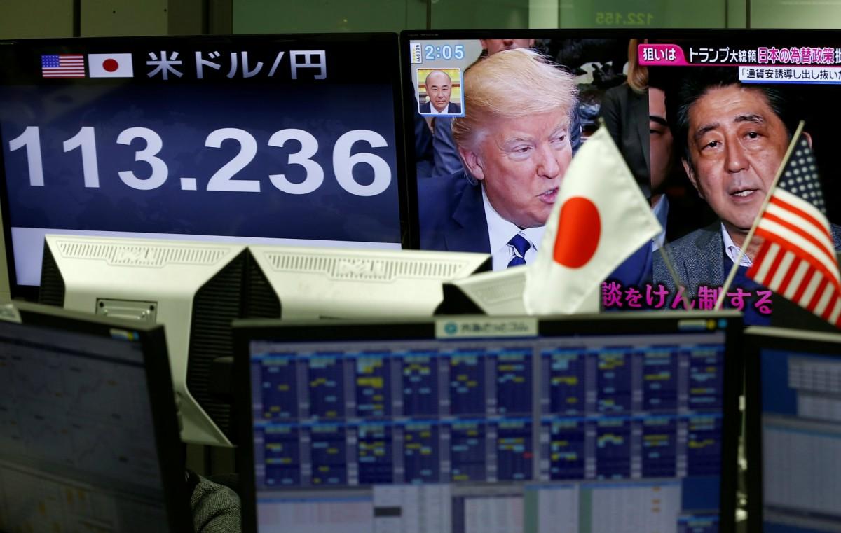 杜林普向傳統盟友開火,譴責日本刻意操縱匯率。 圖片來源:路透社