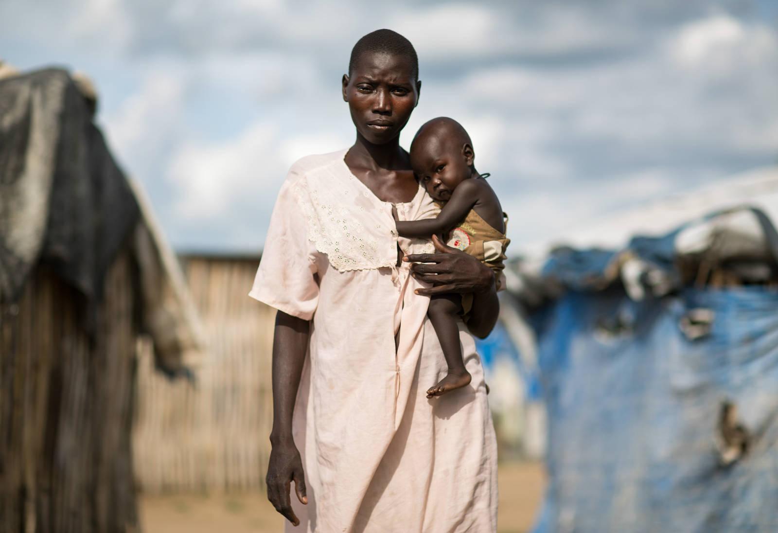 南蘇丹糧食危機是「人為」災難,把人民推到絕處,婦女及兒童最受影響。(Kieran Doherty/Oxfam)