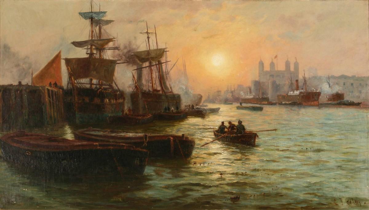 19 世紀畫家 Charles John De Lacy 的畫作。 圖片來源:Wikipedia Commons