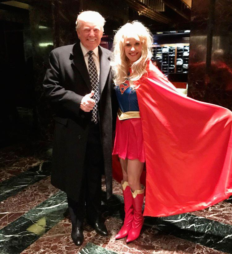 「另類事實超人」:知識服從力量? 圖片來源:Kellyanne Conway Twitter