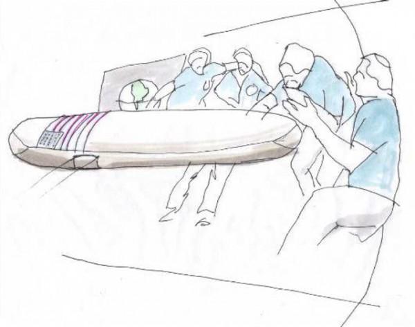 太空的冷凍葬。 圖片來源:Promessa