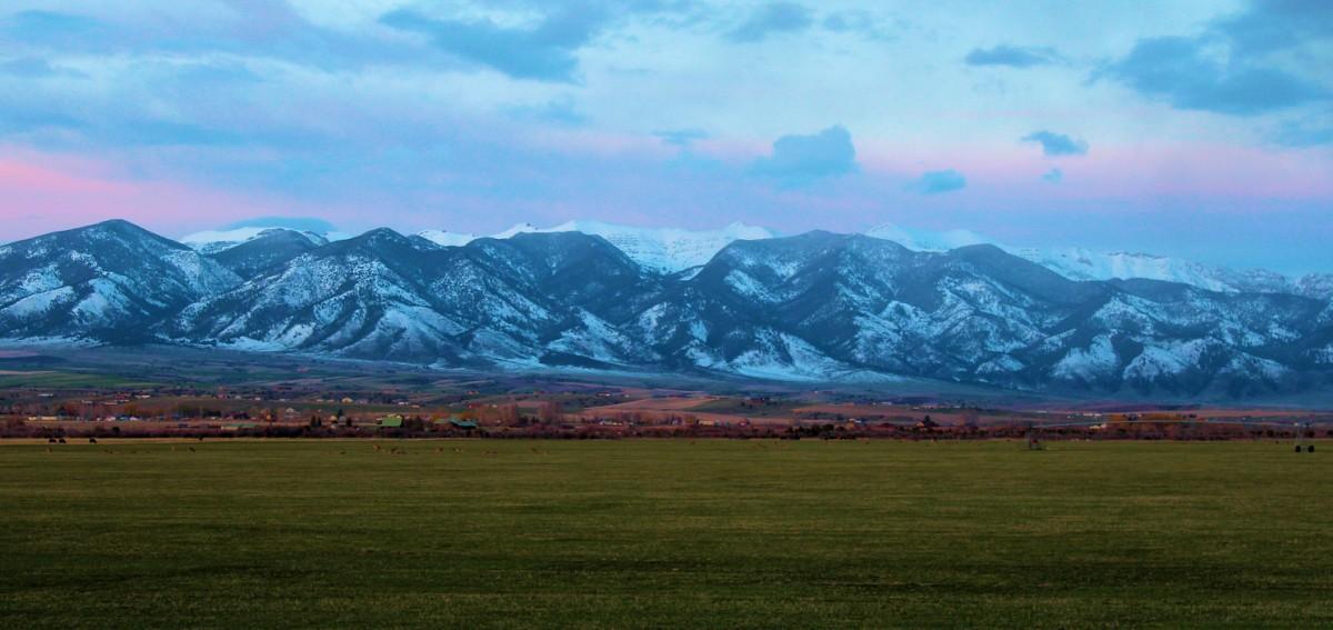 美國蒙大拿州布列治山脈。