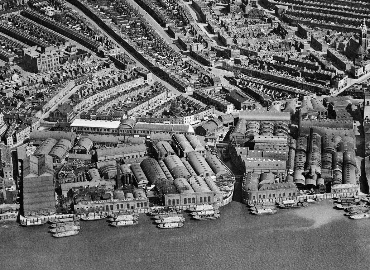 倫敦西南部櫛次鱗比的工廠。 圖片來源:Heritage Calling