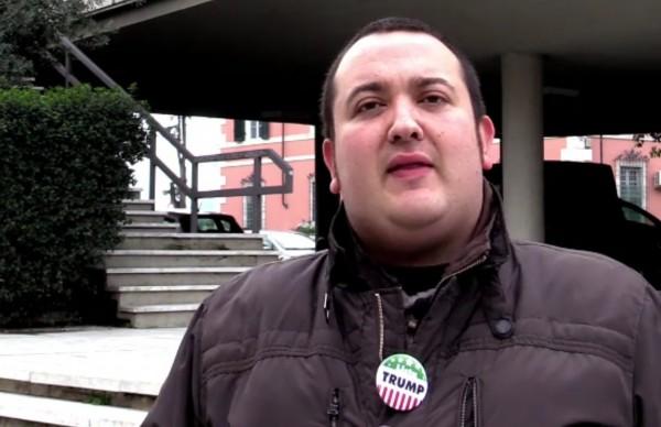 「杜林普黨」創黨人 Gianni Musetti 認為,新任美國總統是一般人的選擇,與民眾非常親密。圖片來源:video.gelocal.it