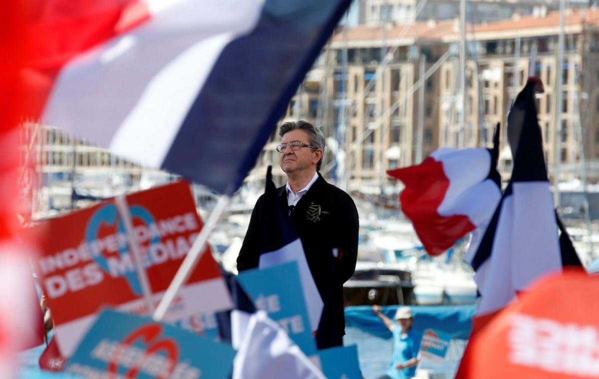 極左派總統候選人梅朗雄提出要終結法國第五共和,究竟是何意思? 圖片來源:路透社