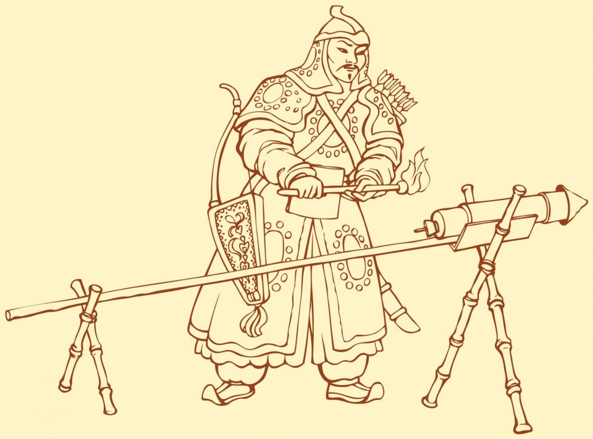 南宋時期,金朝以火藥作武器,開啟熱兵器時代。