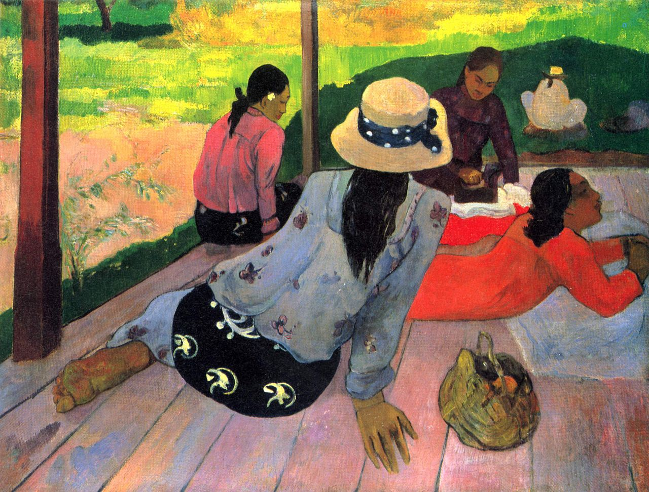 印象派怪客高更(Paul Gauguin)作品「午憩」(Midday Nap)1892-94