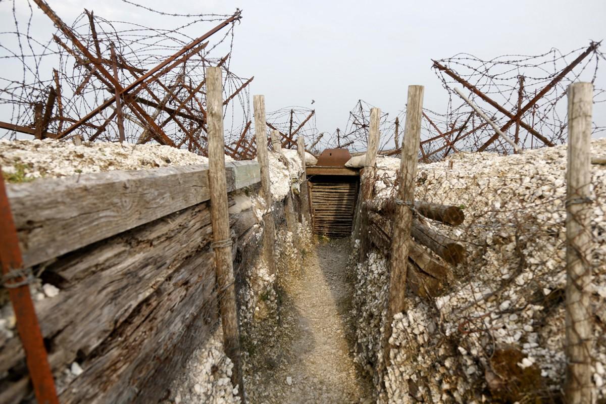 法國東北部的一戰戰壕遺址。 圖片來源:路透社