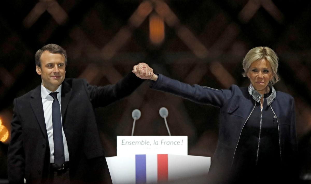 齊澤克表示,馬克宏當的勝利會麻痺大眾,在大敵當前忽略固有的體制問題。 圖片來源:路透社