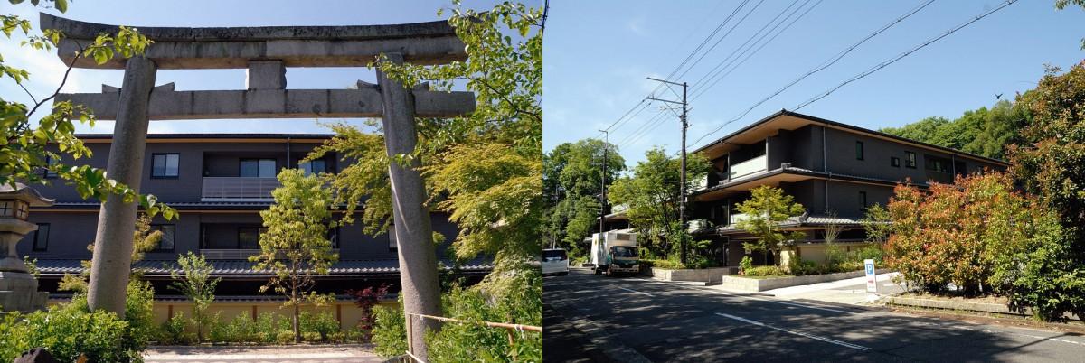 建於京都御所梨木神杜的公寓。 圖片來源:blog.goo.ne.jp/shugakuinrikyu/