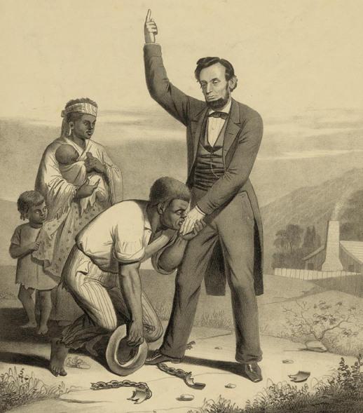相比廢奴,林肯更在意美國能否統一。 圖片來源:Living Lincoln